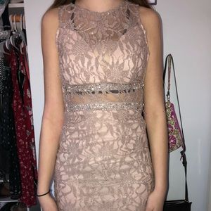 Nude Lace Cocktail Dress